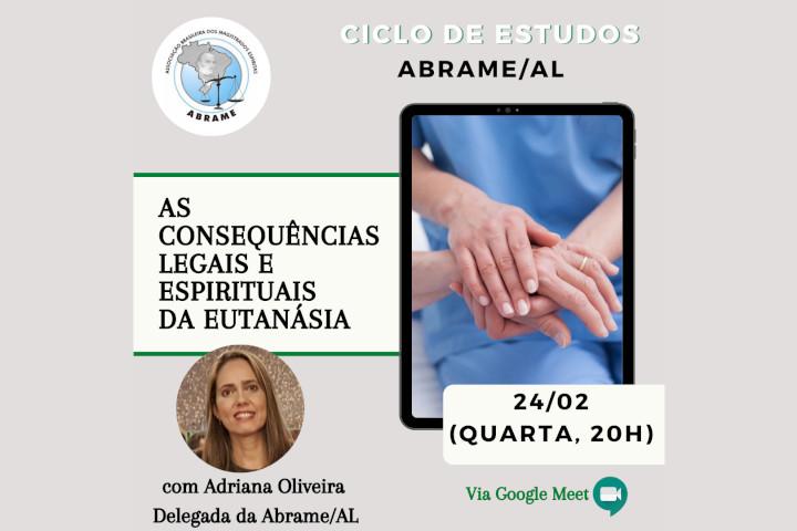 Sala de estudos com a delegada da ABRAME do estado de Alagoas, Adriana Oliveira.